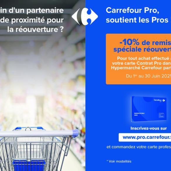 Carrefour Pro soutient les Pros -10% de remise pour la réouverture en juin